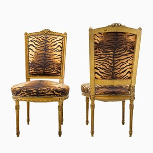 Baroque French Style Chairs, Set of 2