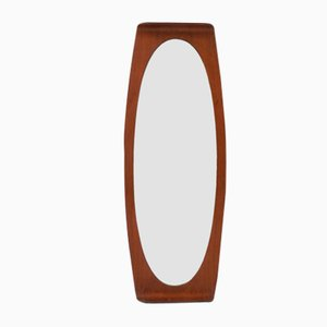 Oval Curved Plywood Mirror by Campo & Graffi, Italy, 1950s