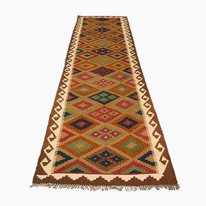 Long Vintage Decorative Maimana Kilim Runner