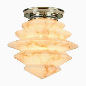 Art Deco Glass Shade Ceiling Lamp, 1930s