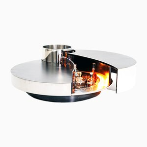 Rotating Coffee Table or Dry Bar by Massimo Papiri for Mario Sabot, Italy, 1970s