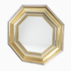 Large Brass Mirror by Michel Pigneres, 1970s