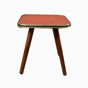 Vintage Red Plant Table or Nightstand, 1950s