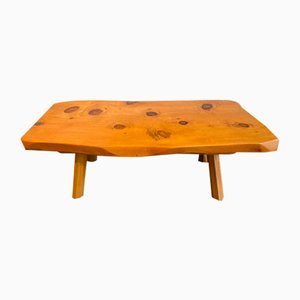 Wooden Les Arcs Coffee Table, 1950s