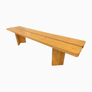 Wooden Bench by Charlotte Perriand, 1950s