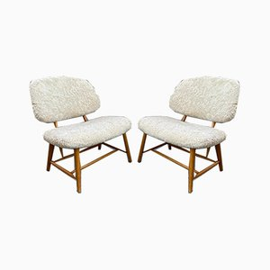Teve Chairs by Alf Svensson for Ljung Industries, 1950s, Set of 2