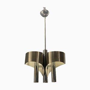 Mid-Century Chrome Pendant Lamp, 1960s