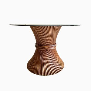 Bamboo Sheaf of Wheat Dining Table from McGuire, 1970s
