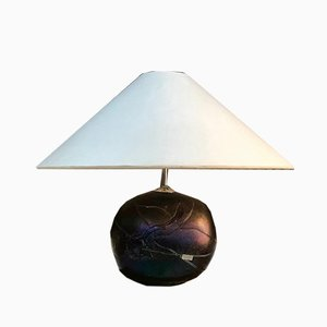 Swedish Colored Art Glass Table Lamp by Bertil Vallien for Kosta Boda, 1970s