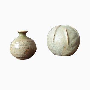 Stoneware Vases, Set of 2