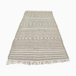 Gray Flat Weave Berber Kilim Rug