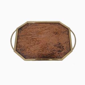 Octagonal Brass Tray