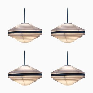 Mid-Century Space Age Pendant Lamps, 1970s, Set of 4