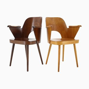 Beech Dining Chairs by Oswald Haerdtl, Czechoslovakia, 1960s, Set of 2