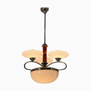 Art Deco or Bauhaus Chrome Pendant Lamp, 1930s