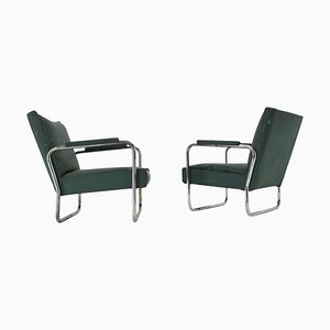 Early Bauhaus Chrome Kf-406 Armchairs by Walter Knoll for Thonet, 1930s, Set of 2