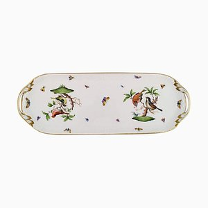 Bird Serving Dish in Hand-Painted Porcelain from Herend Rothschild