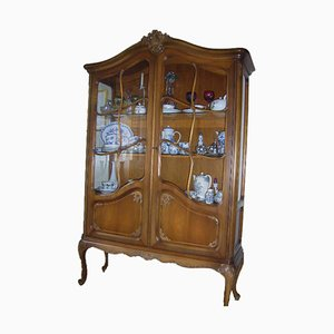 Chippendale-Style Display Cabinet in Solid Wood from Warrings