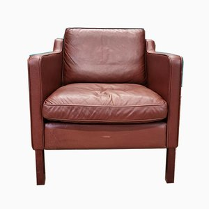 Mid-Century Danish Brown Cognac Leather Club Chair from Stouby