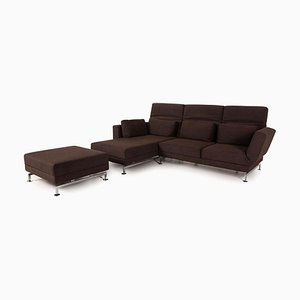 Moule Brown Fabric Sofa from Brühl & Sippold