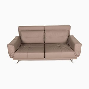 Letto Beige Leather 2-Seater Sofa from Franz Fertig