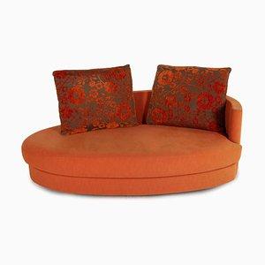 Model 4500 Orange Fabric Sofa from Rolf Benz