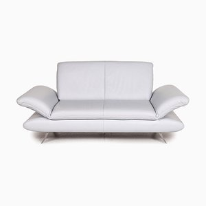 Rossini Blue Leather Sofa from Koinor