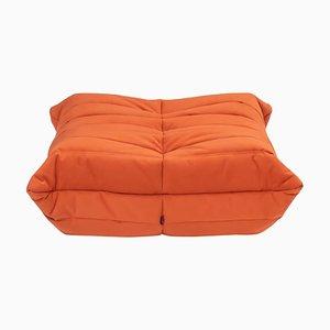 Togo Cadmium Orange Footstool by Michel Ducaroy for Ligne Roset