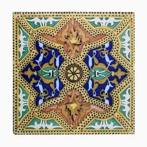 Antique Ceramic Tiles from Onda, Spain Valencia, 1900s, Set of 6