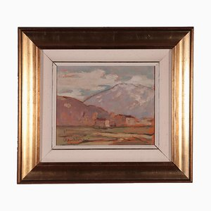 Raul Viviani, Landscape, Oil on Cardboard