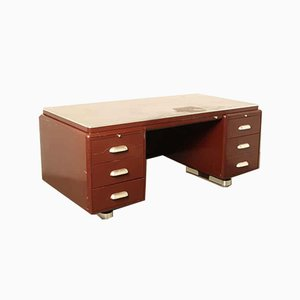 Prominent Dark Red Desk from Oda Ahrend
