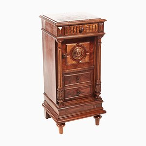 19th Century French Walnut Bedside Cabinet