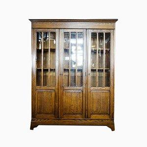 Antique 3-Door Bookcase, 1900s