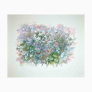 Giuseppe Giorgi, The Spring Flowers, Original Lithograph, 1980s