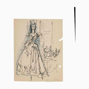 Olga Klein Astrachan, Opera, Original Drawing, Mid-20th-Century