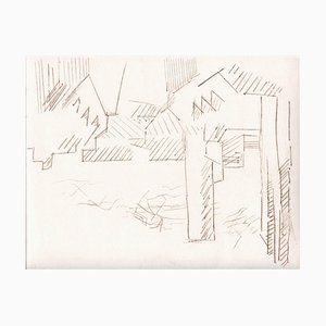 Unknown, City of the Future, Original Etching and Drypoint, Mid-20th-Century