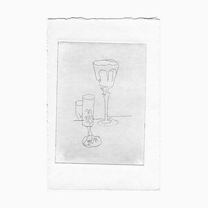 Unknown, Still Life, Original Etching and Drypoint, Mid-20th-Century