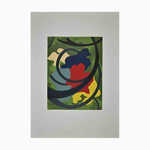 Amintore Fanfani, Abstract Flowers, Original Lithograph, 1972