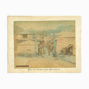 Unknown, Ancient View of Kobe, Vintage Albumen Print, 1890s