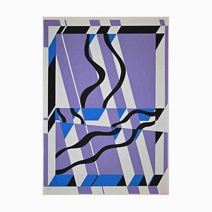 Uberto Maria Casotti, Abstract Composition, Original Screenprint, 1971