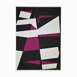 Uberto Maria Casotti, Violet Composition, Original Screenprint, 1971