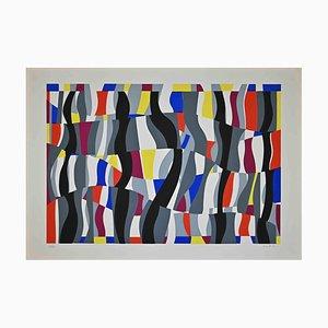 Uberto Maria Casotti, Colored Composition, Original Screenprint, 1971