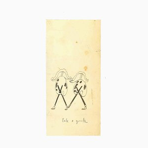 Unknown, Tale e Quale, Original Drawing on Paper, 1933