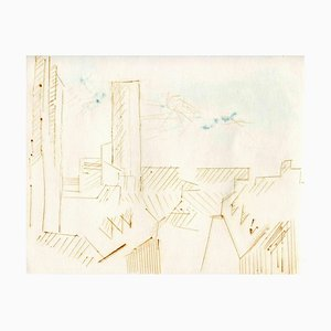 Unknown, City of Future, Original Etching and Drypoint, Mid-20th-Century