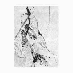 Unknown, Figure, Original Etching and Drypoint, Mid-20th-Century
