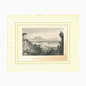Unknown, Naples, From the Villa Falconnet, Original Lithograph, Early 19th-Century