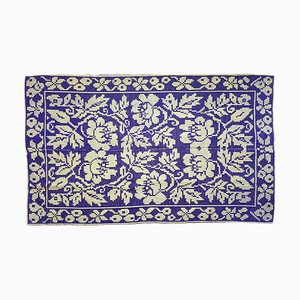 Romanian Floral Rug Hand Woven in Wool