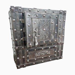 Italian 18th Century Wrought Iron Studded Safe