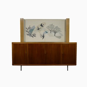 Teak Cabinet with Vinyl Artwork by Akkermans