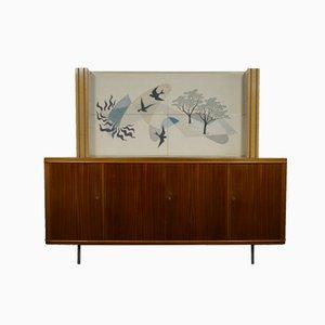 Teak Cabinet with Vinyl Artwork by Akkermans